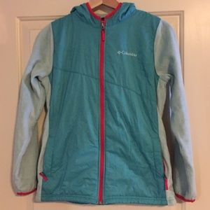 Columbia Pearl Plush Hooded Jacket Girls Teal